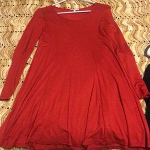 Basic red T-shirt dress